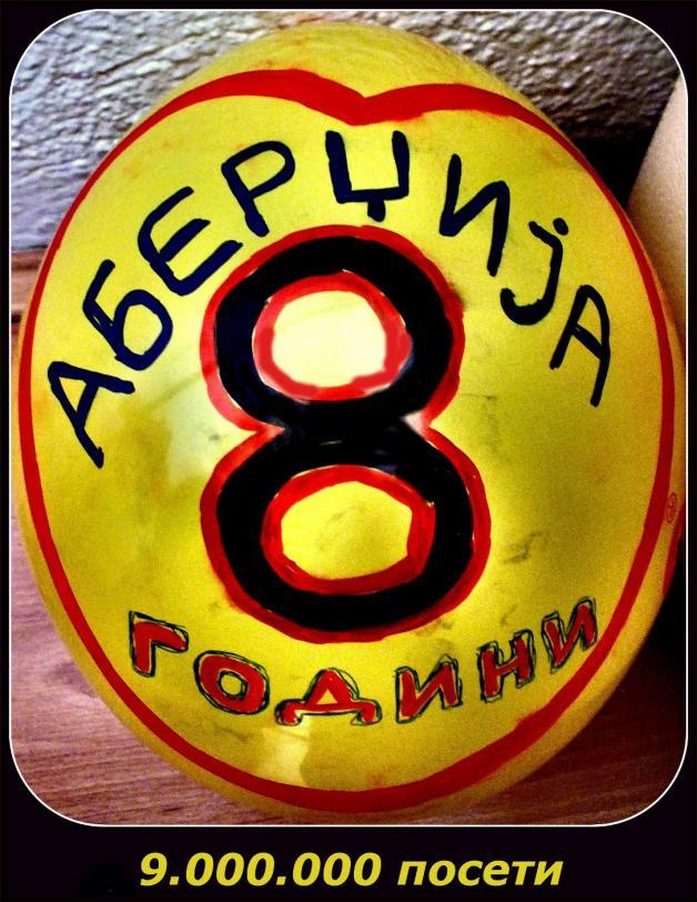 РОДЕНДЕН: 8 години АБЕРЏИЈА, 9 милиони ПОСЕТИ