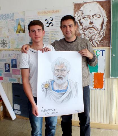 Драг Аристотеле, добредојде во нашата училница!