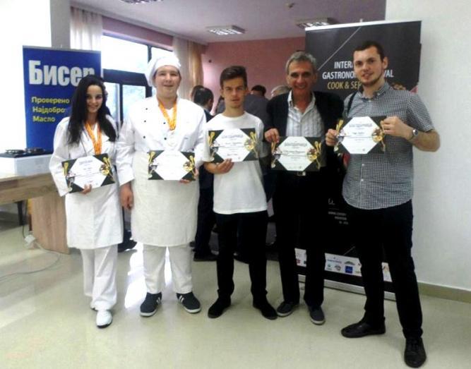 Средношколци од Кратово се закитија со сребро и брозна на гастрономски натпревар